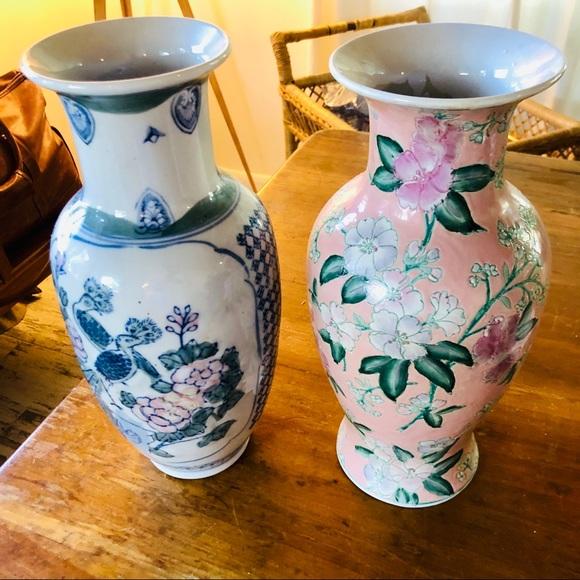 Vintage Other - {PAIR} Imported Vintage Ceramic Vases, Palm Beach